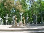 Bolotnaya Square park and sculpture group by Mokhail Chemiakin, 'Childhood Threatened by Adult Vices'.