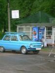 blue Lada like Sergey's taxi