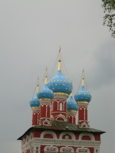 the beautiful domes of St Dimitri