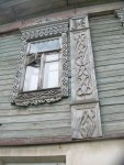 Close up of window carving