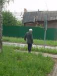 Old man walking to town