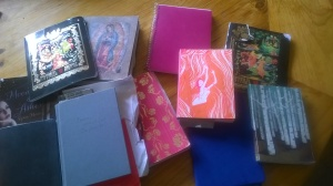 Just a small selection of my writing journals!
