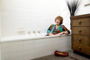 Hazel in bath