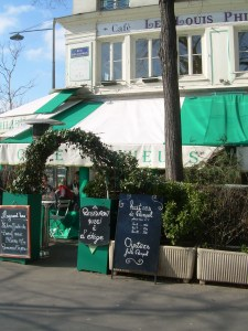 our favourite local restaurant, the Louis-Philippe