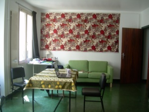 Living area in 2010(our decorations!)