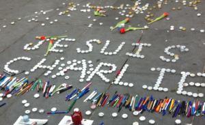 Impromptu street memorial