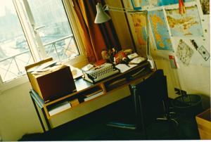 Tony's desk, Keesing Studio 1989