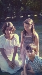 Aged 16, with younger siblings Gabrielle and Bertrand.
