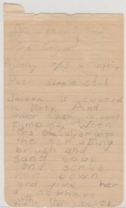 Story written at about age 6