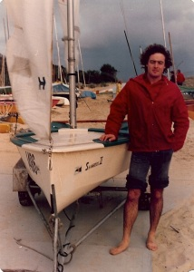 Stephen at time of writing the poem, with his boat