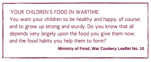 ministry of war food
